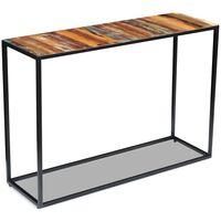 vidaXL Mesa consola 110x35x76 cm madeira reciclada maciça