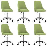 vidaXL Cadeiras de jantar 6 pcs tecido verde