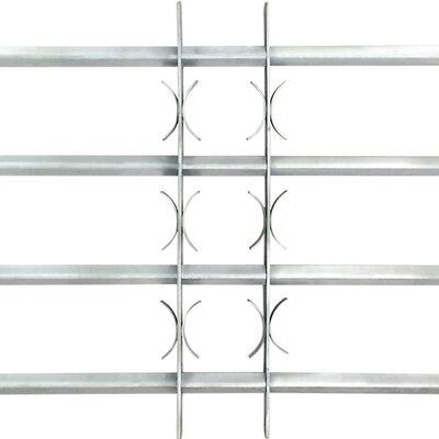 vidaXL Grades de segurança ajustáveis para janelas 2 pcs 1000-1500 mm