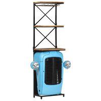 vidaXL Garrafeira trator 49x31x170 cm madeira mangueira maciça azul