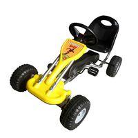 vidaXL Kart a pedais amarelo