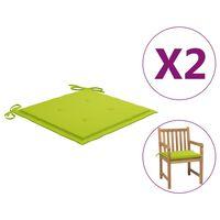 vidaXL Almofadões cadeira jardim 2pcs 50x50x4cm tecido verde brilhante