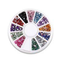 Pedras decorativas para unhas multicoloridas