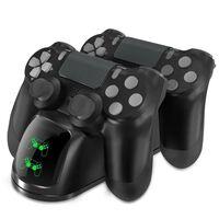 Carregador duplo para dois controladores PS4 / PS4 Slim / PS4 Pro