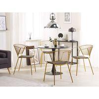 Conjunto de 2 cadeiras em metal cor dourado RIGBY