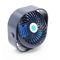 Ventilador De Mesa Recarregável Com 3 Velocidades Azul Escuro