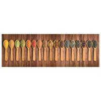 vidaXL Kitchen Carpet Washable Spoons 60x300 cm