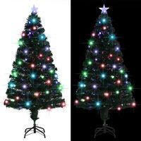 vidaXL Árvore de Natal artificial com suporte/LED 150 cm 170 ramos