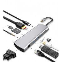 Adaptador USB-C multiporta - hub com 9 portas
