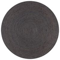 vidaXL Tapete artesanal em juta redondo 120 cm cinzento escuro