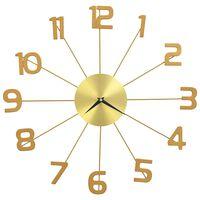 vidaXL Relógio de parede metal 50 cm dourado
