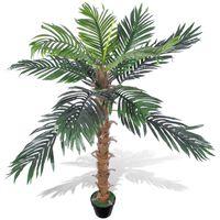 Palmeira de coco artificial, com vaso 140 cm