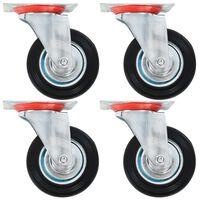 vidaXL 24 pcs rodas giratórias 100 mm