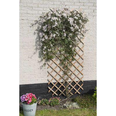 Nature Treliça de jardim 50x150 cm madeira natural