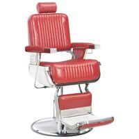 vidaXL Cadeira de barbeiro 68x69x116 cm couro artificial vermelho