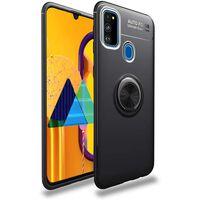 Capa para celular com suporte para anel Samsung Galaxy M30S - preto