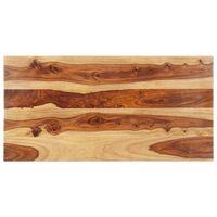 vidaXL Tampo de mesa madeira de sheesham maciça 25-27 mm 60x140 cm