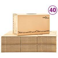 vidaXL Caixas para mudanças XXL 40 pcs 60x33x34 cm